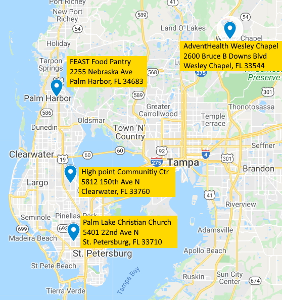 Pickup Locations Map